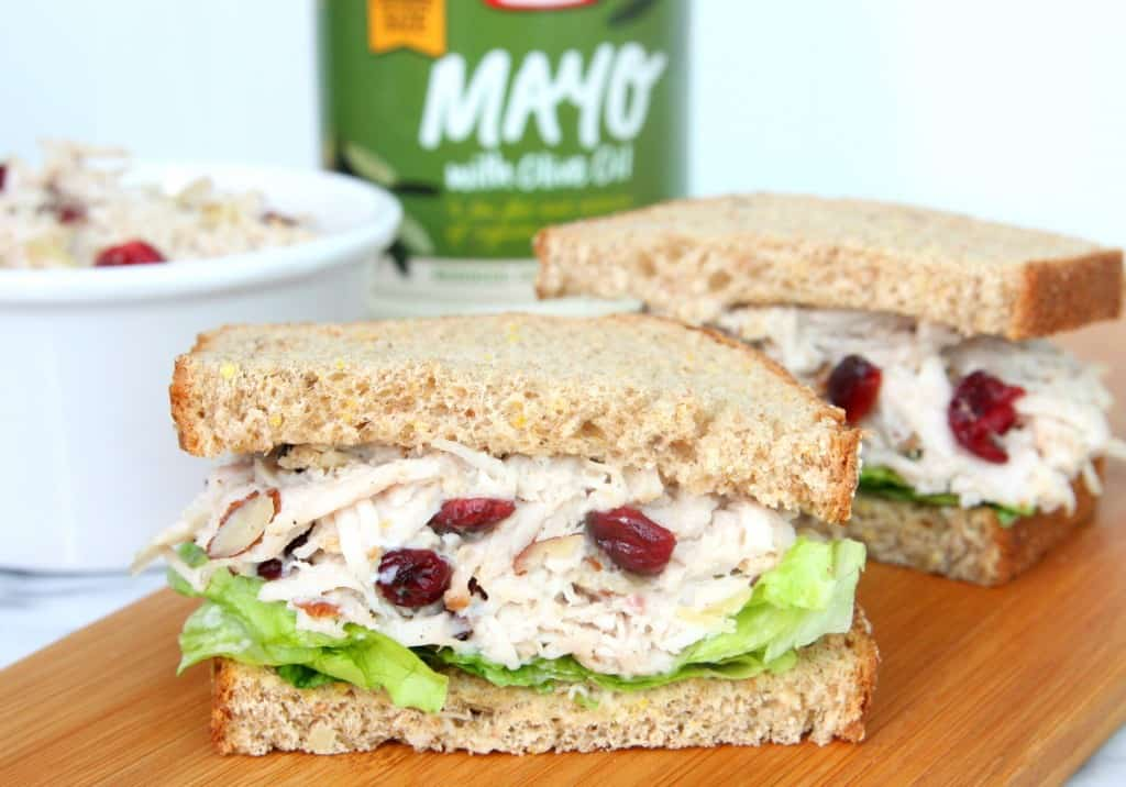 Turkey Salad with Almonds and Dried Cranberries