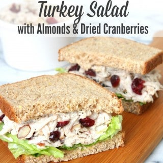 Turkey Salad Sandwiches with Almonds and Dried Cranberries