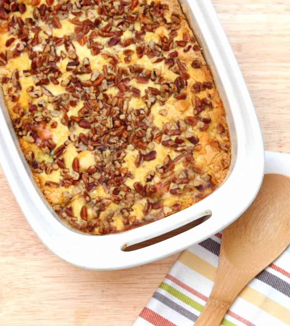 Apple Dump Cake With Walnuts