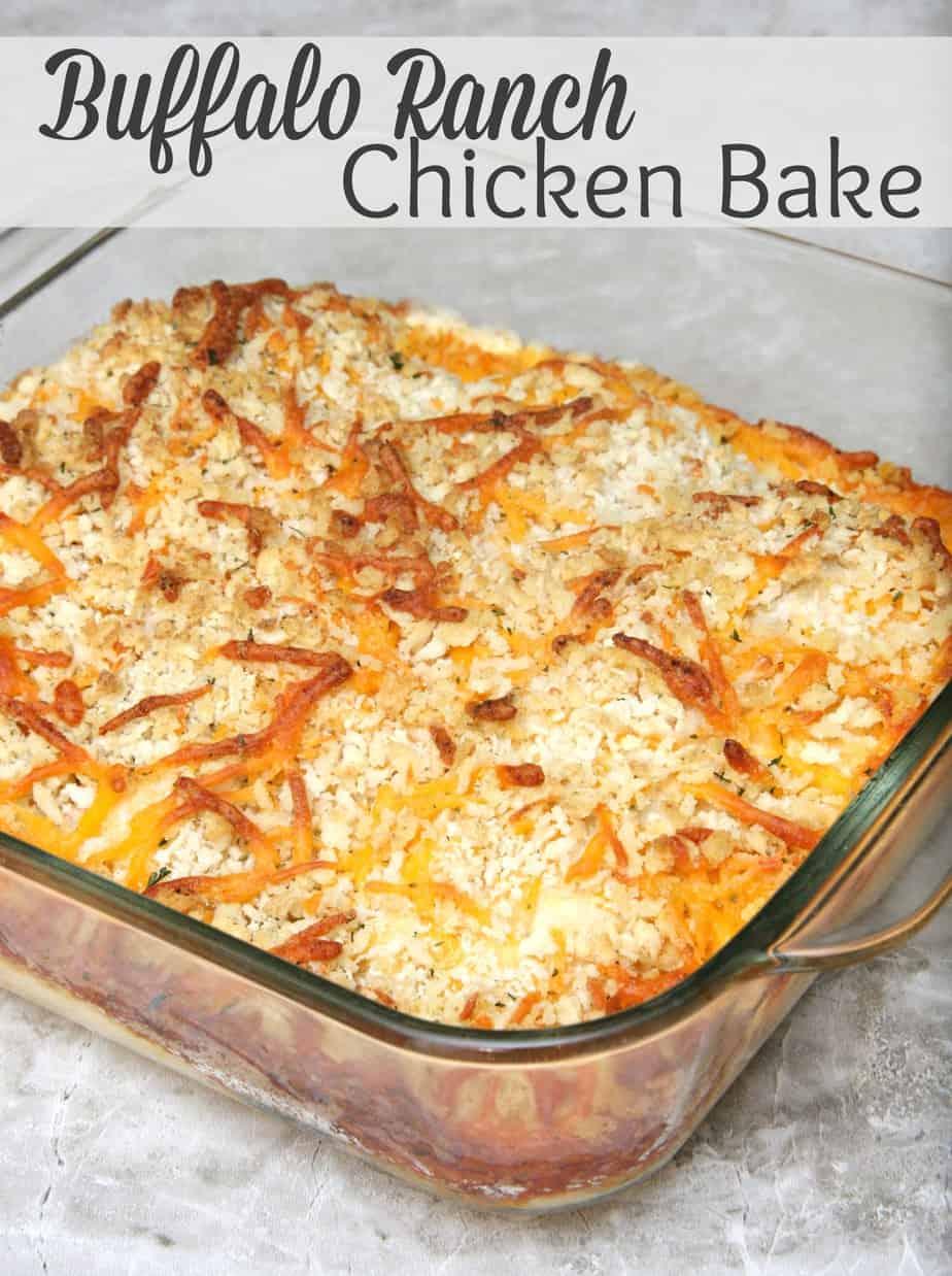 Buffalo Ranch Chicken Bake