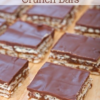 Chocolate Caramel Crunch Bars {Holiday Fun with Skippy and Honey Maid}