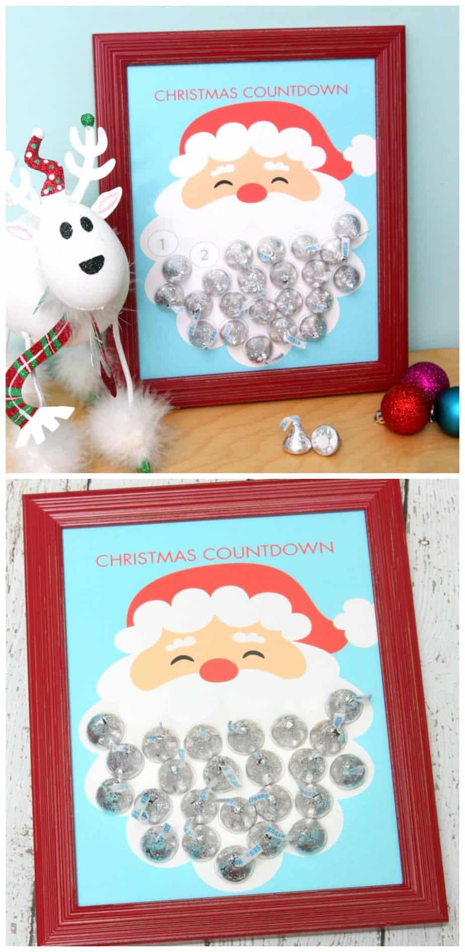Christmas Countdown Santa Advent Calendar