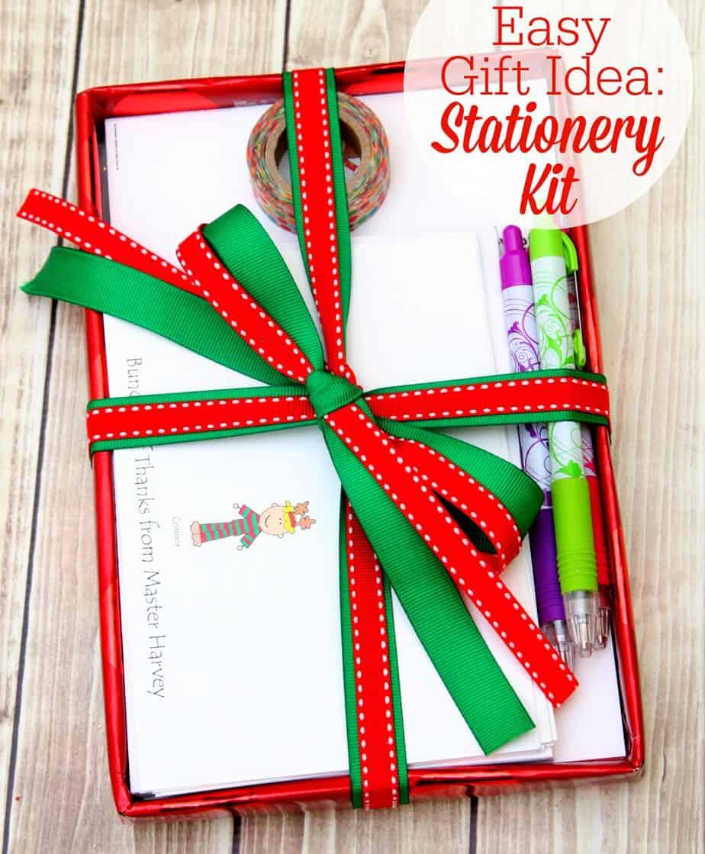 Easy Gift Idea - Stationery Kit
