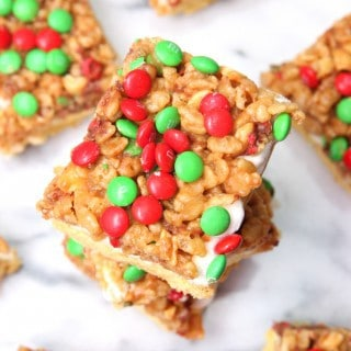 Holiday Payday Bars – Baking with M&M's and Glad