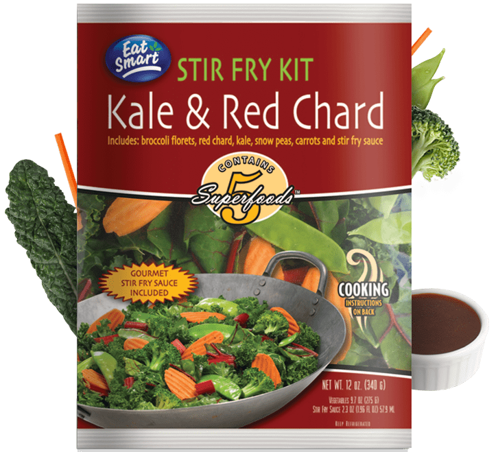 Eat Smart offers a variety of Salad and Stir Fry Kits: