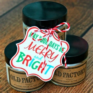 Old Factory Candles Gift Tag