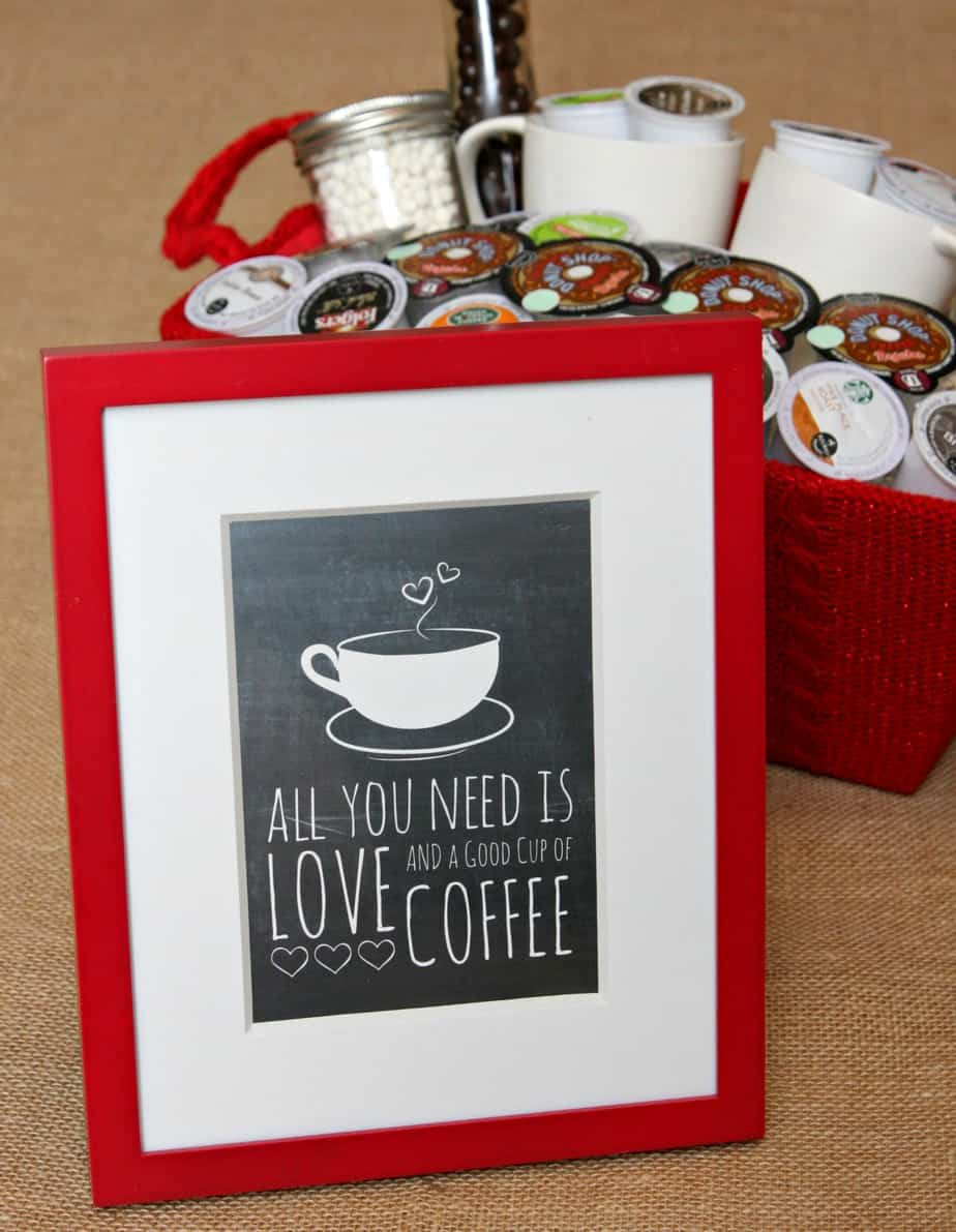 All You Need is Love and a Good Cup of Coffee Free Printable