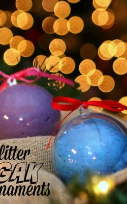 Glitter Gak Ornaments