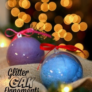 Movie Night Gift Basket with Glitter Gak Ornaments