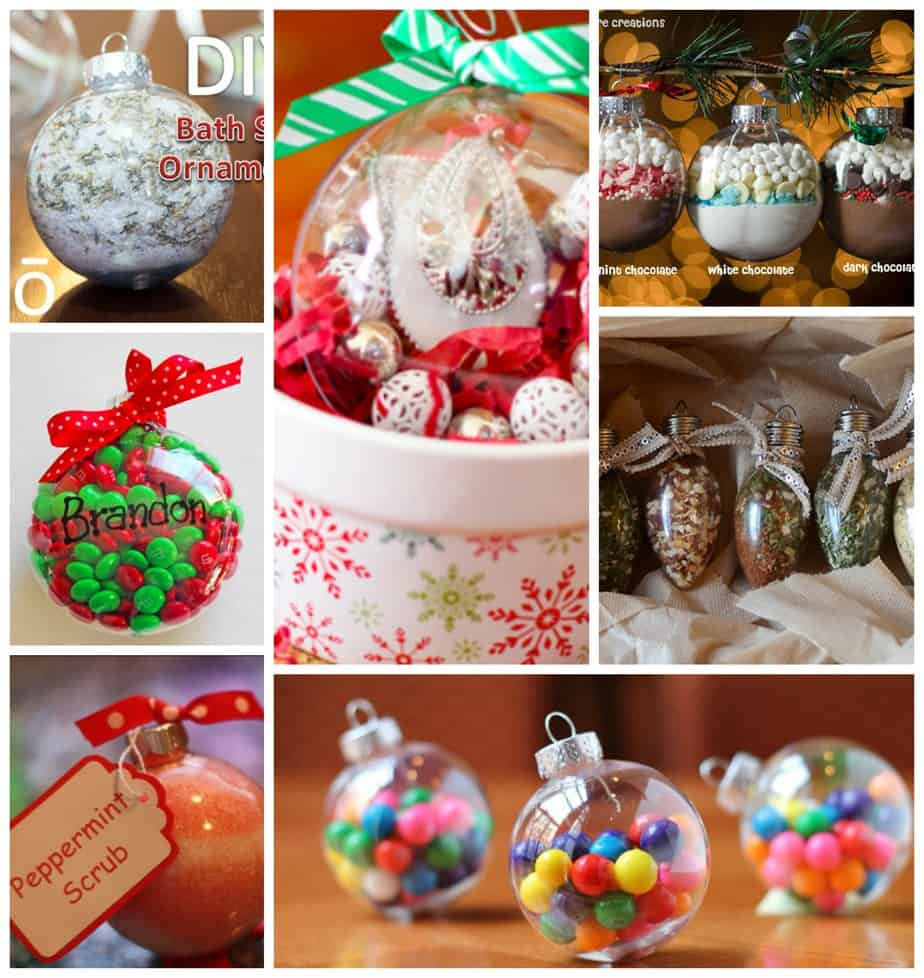Filled Ornaments - Fun Gift Ideas