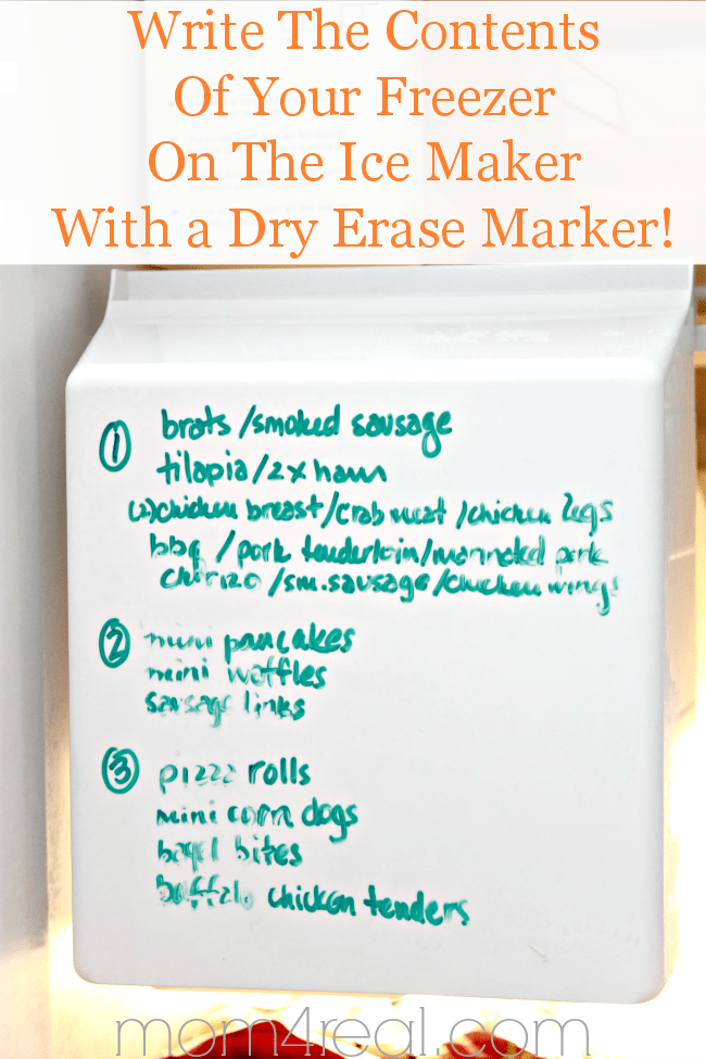 Keep-track-of-the-contents-in-your-freezer-by-writing-them-on-your-ice-maker-with-a-dry-erase-marker