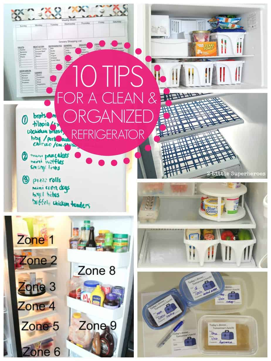 10 tips for a clean and organized refrigerator