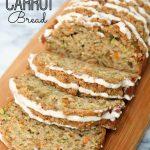 Zucchini Carrot Bread with Earl Grey Glaze