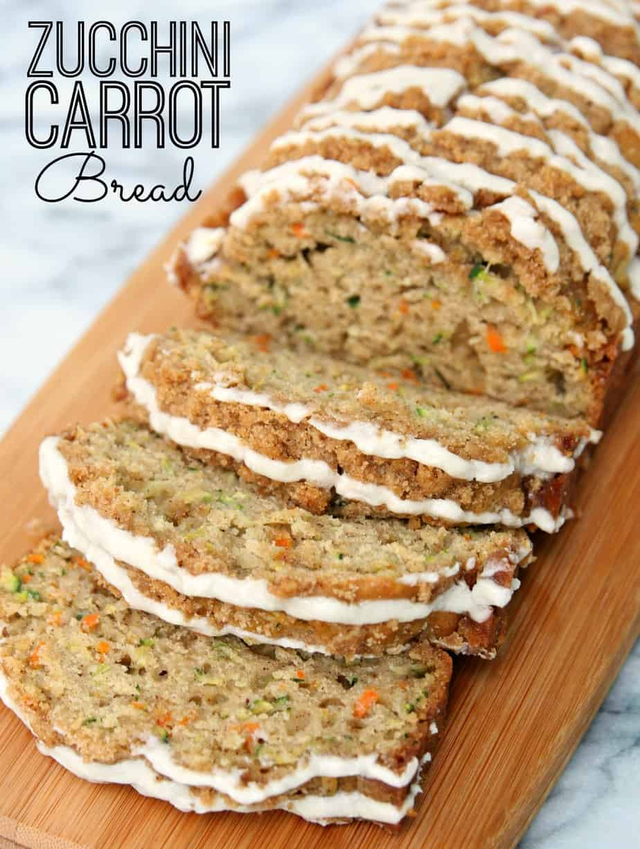 Zucchini Carrot Bread with Earl Grey Glaze