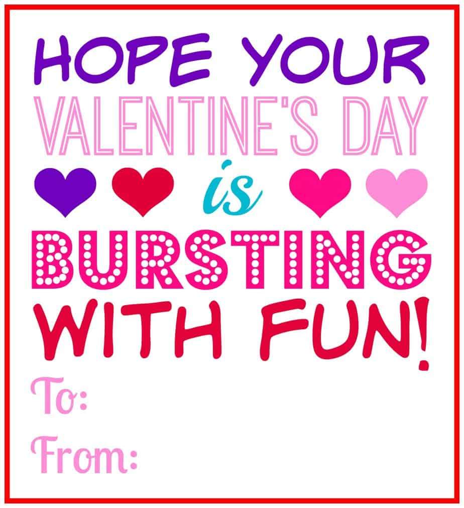 valentine's day bursting fun printable