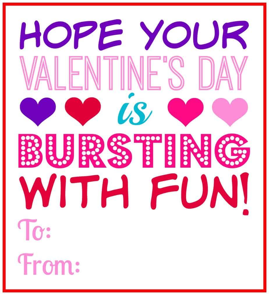 valentine's day bursting fun printable