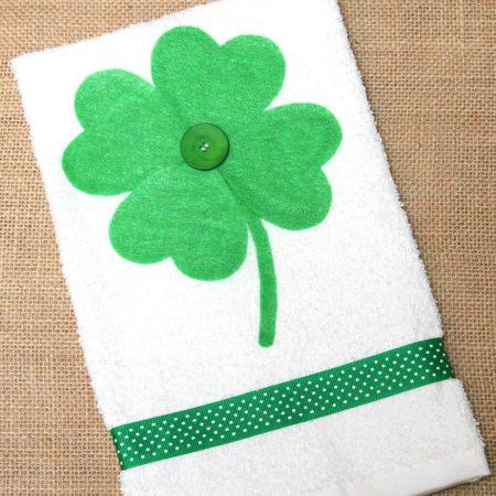clover hand towel