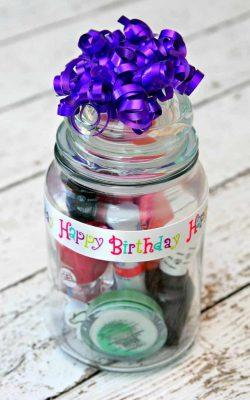 manicure gift in a jar