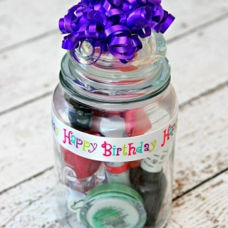 Manicure Gift in a Jar {Upcycle Your Old Candle Jars}