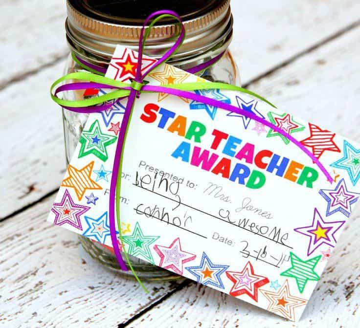 Star Teacher Award Gift Idea