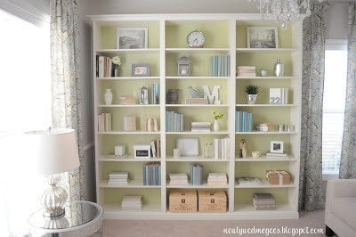 painted bookshelves