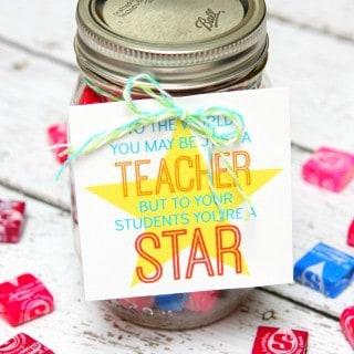 Star Teacher Gift in a Jar