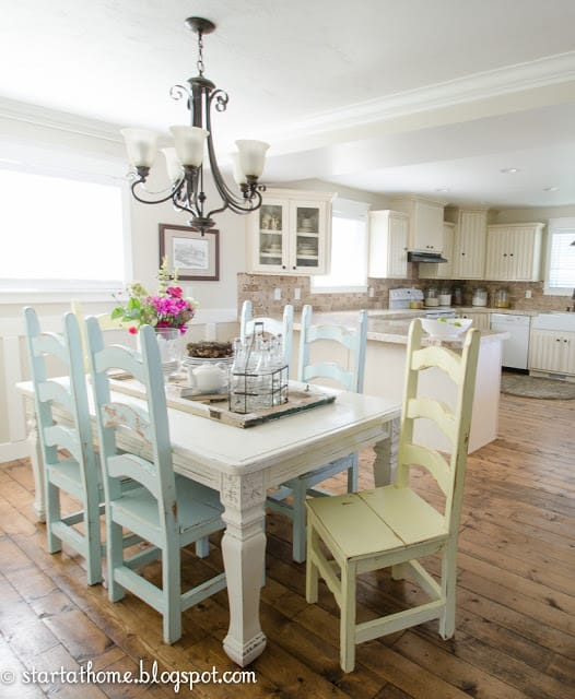 Kitchen Table And Chairs Makeover: Decorating With Pastels