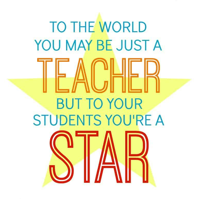 Star Teacher Gift in a Jar