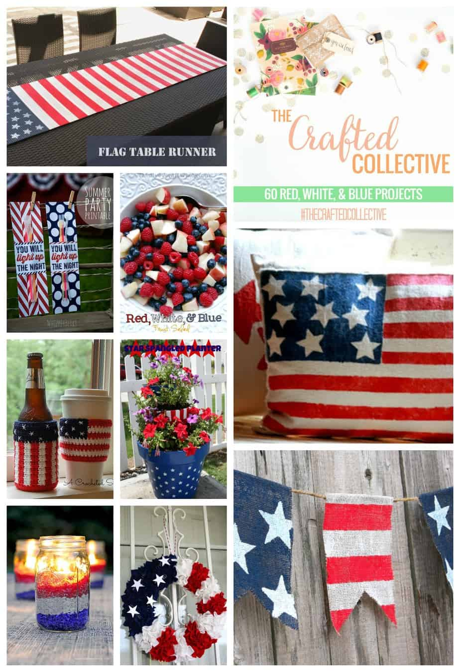 60 red, white, blue projects