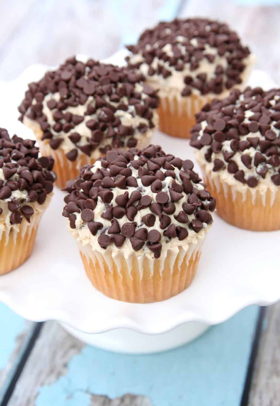 chocolate chip cookie dough icing