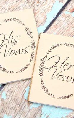Handmade Vow Books