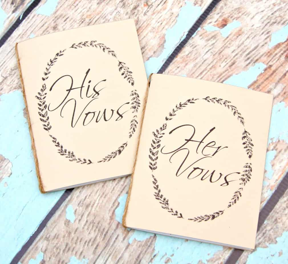 Expensive Wedding Gift For Brother : Handmade Wedding Vow Books - Happy-Go-Lucky