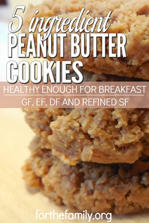 5-Ingredient-Peanut-Butter-Cookies-500x750