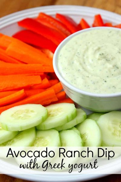 Avocado Ranch Dip with Greek Yogurt