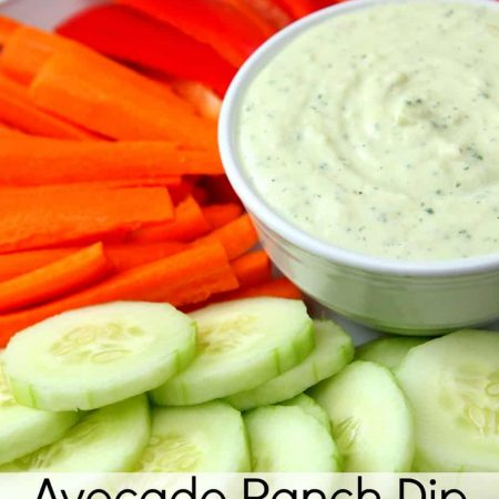Avocado Ranch Dip with Greek Yogurt