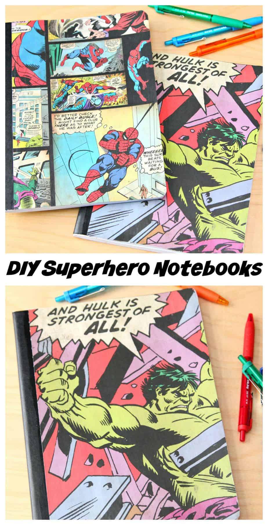 DIY Superhero Notebooks