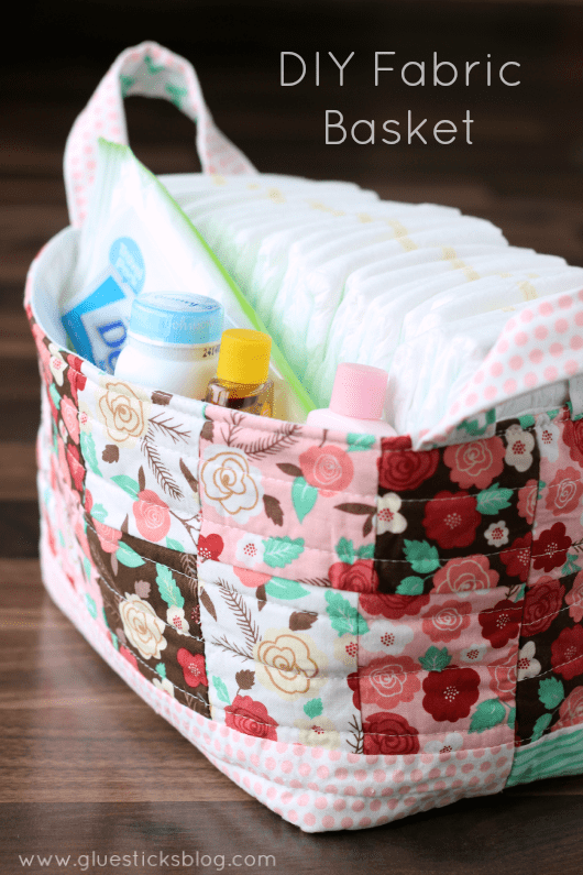 DIY-fabric-basket