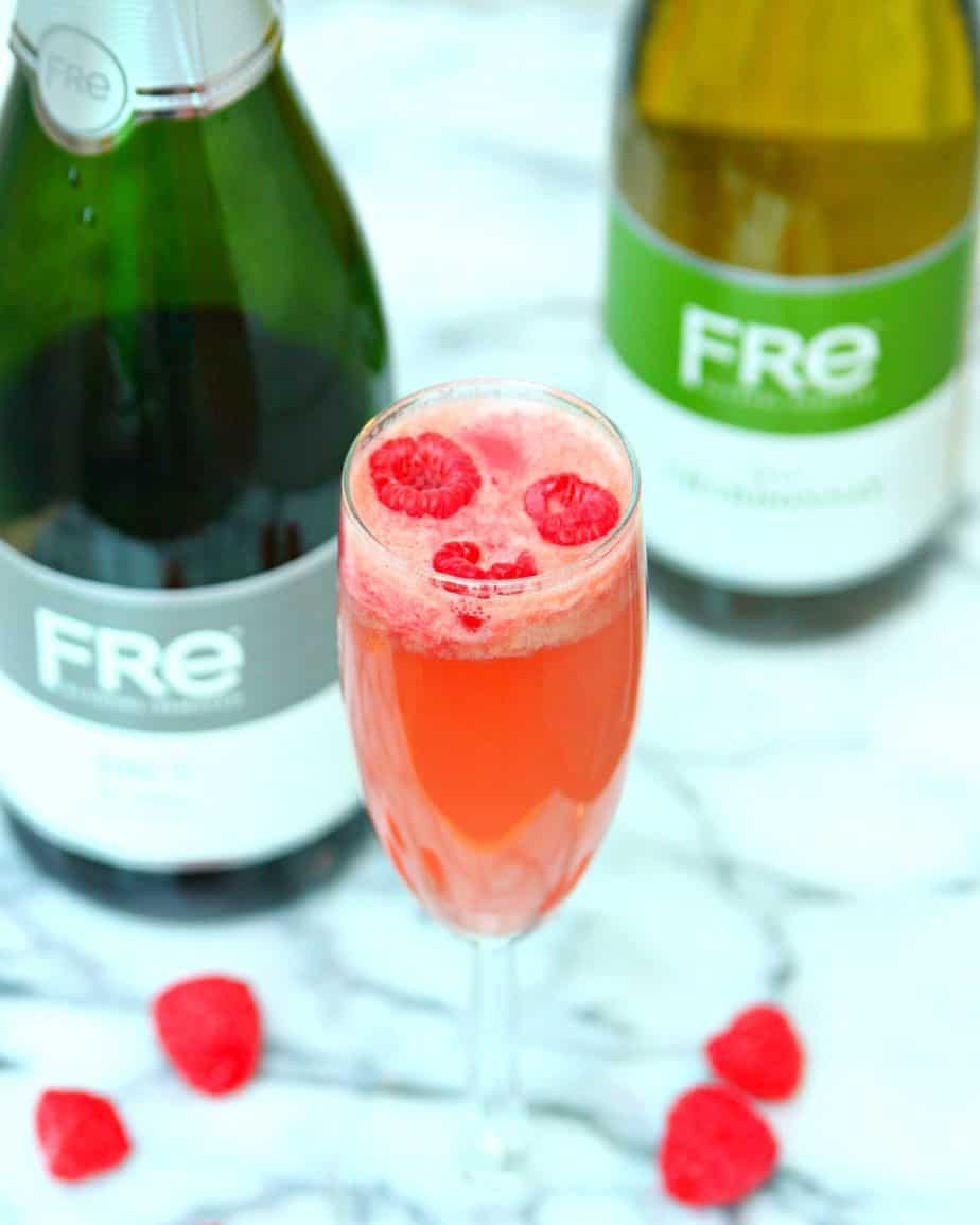 FRE Raspberry Sorbet Bellinis