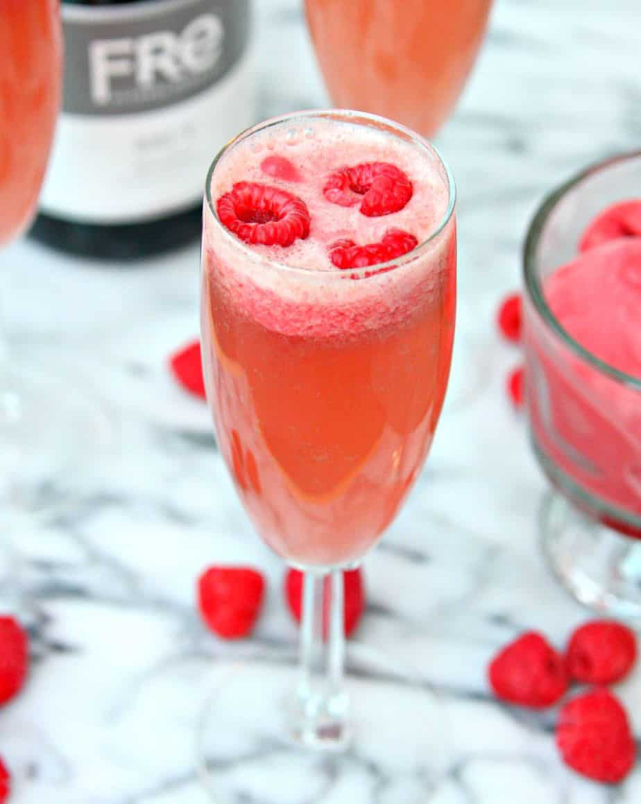 Raspberry Sorbet Bellini