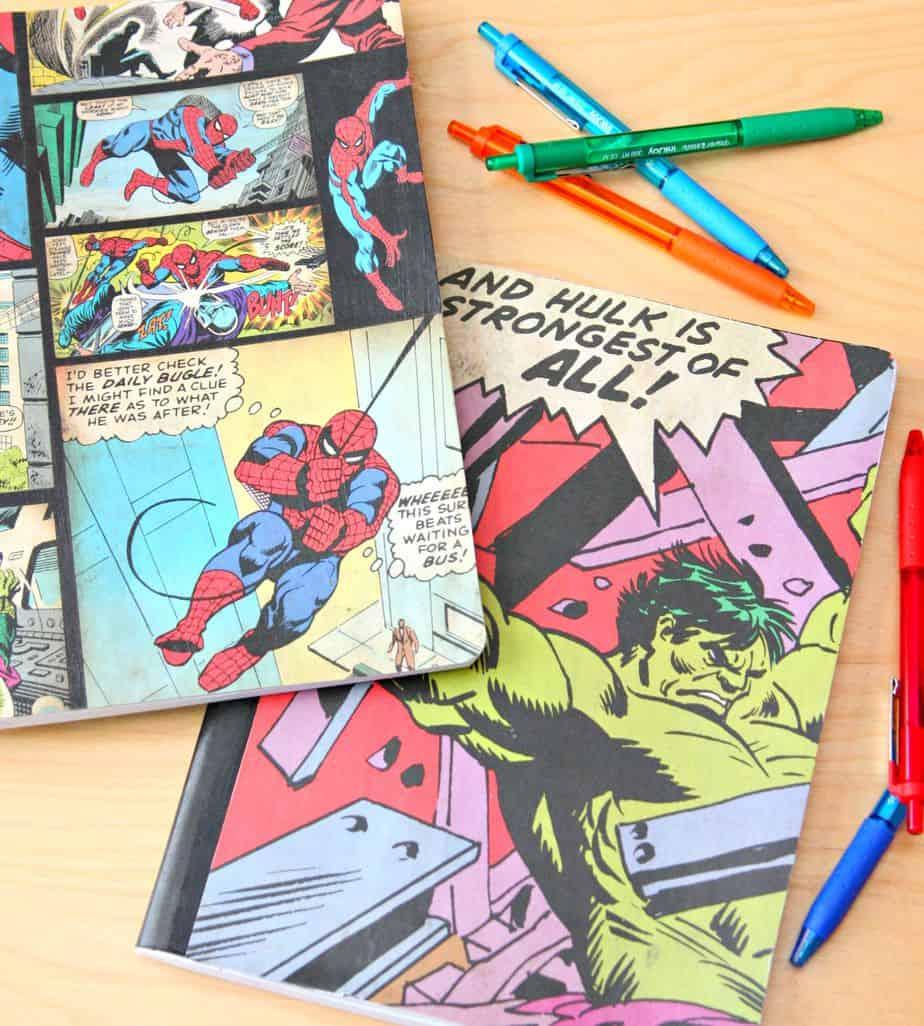 Superhero notebooks