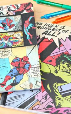 DIY Superhero Notebooks