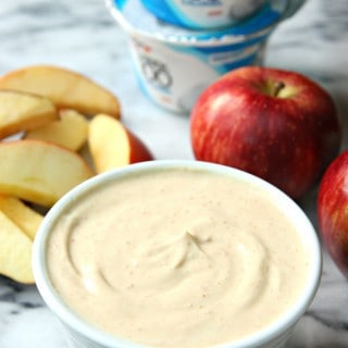 Peanut Butter Fruit Dip with Yogurt and Honey