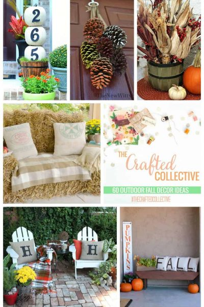 60 Fall Outdoor Decor Projects that are inexpensive and easy to DIY.