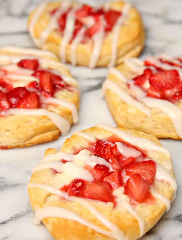 Strawberries and Cream Danishes 2