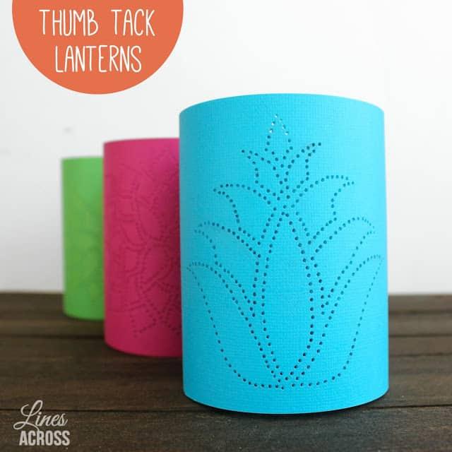Thumb+Tack+Lanterns+candle+votive+holder+craft+idea