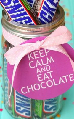 Candy Bar Gift in a Jar