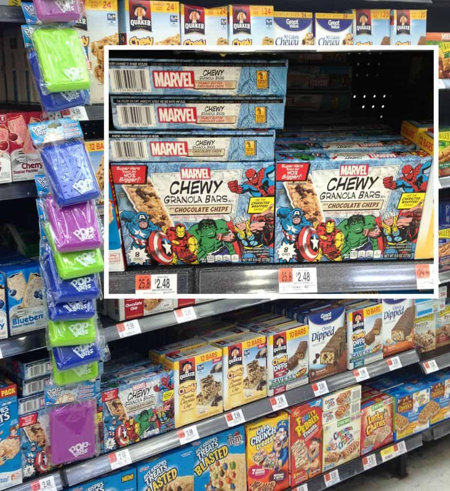 Marvel granola bars