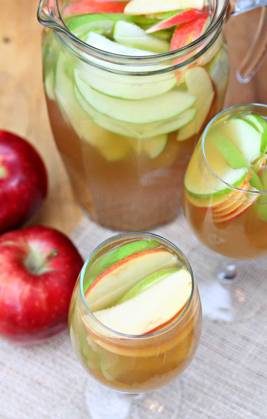 ... instead of making food, I'm going to be bring Apple Cider Sangria
