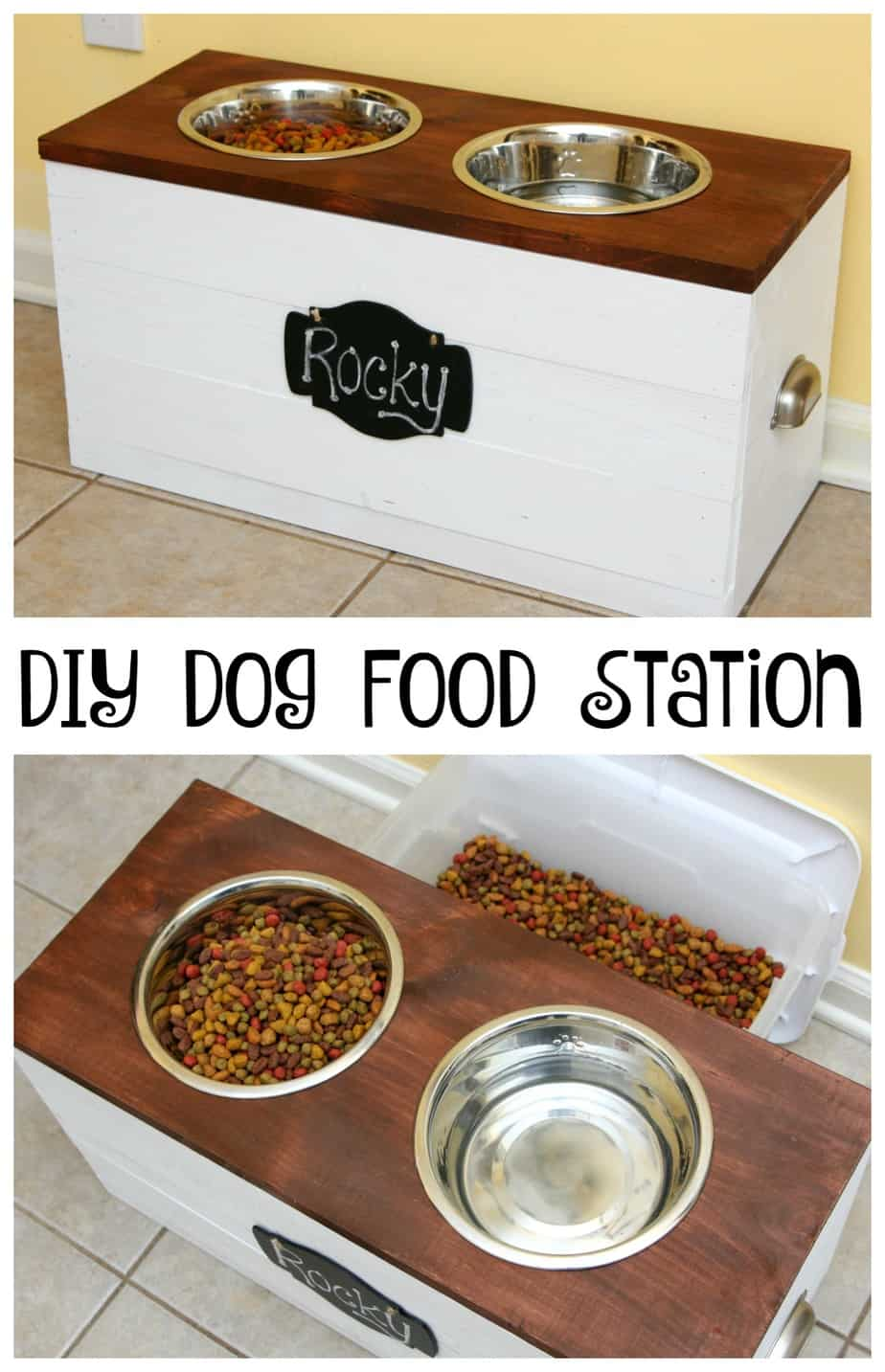 We are keeping our dog healthy with a DIY Dog Food Station and Purina ...