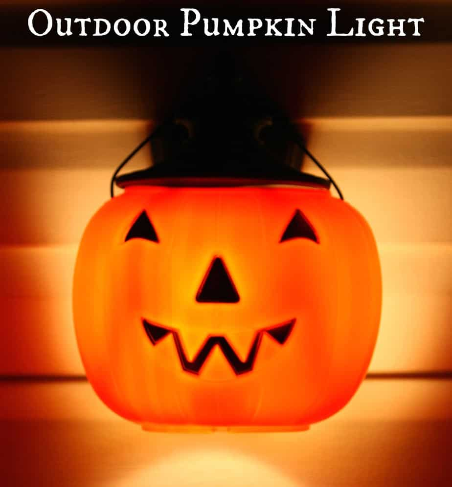 Outdoor Pumpkin Light